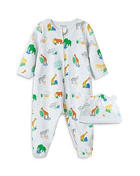 Little Me - Boys' Bright Safari Print Footie & Hat Set - Baby