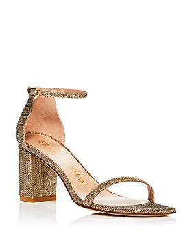 Stuart Weitzman - Women's Amelina Ankle Strap Block Heel Sandals