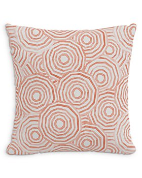 """Cloth & Company - The Umbrella Swirl Linen Decorative Pillow with Feather Insert, 20"""" x 20"""""""