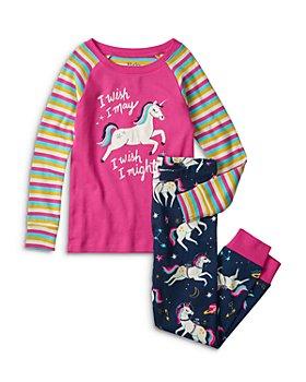 Hatley - Girls' Space Unicorns Cotton Pajama Set - Little Kid, Big Kid