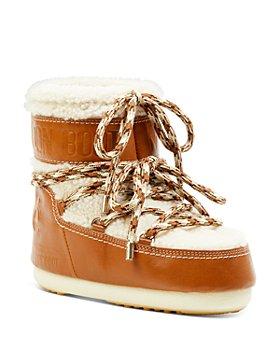 Chloé - Moon Boot x Chloé Shearling & Leather Snow Boots