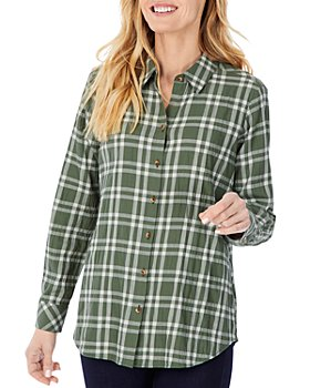 Foxcroft - Rhea Puckered Button Front Shirt