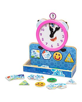 Melissa & Doug - Blues Clues & You Wooden Tickety Tock Magnetic Clock - Ages 3+