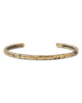 John Varvatos Collection - Men's Brass Artisan Cuff Bracelet