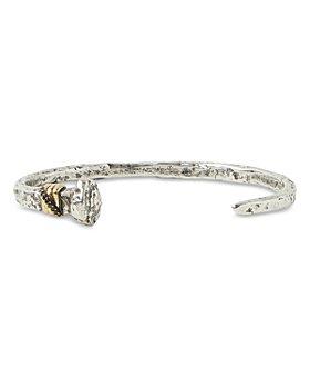 John Varvatos Collection - Men's Sterling Silver & Brass Nail Black Diamond Cuff Bracelet