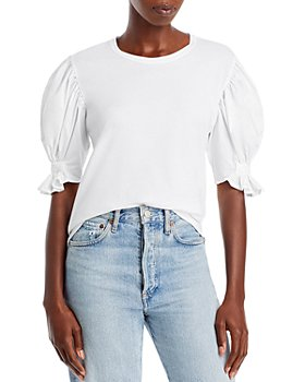 A.L.C. - Constance Cotton Puff Sleeve Tee