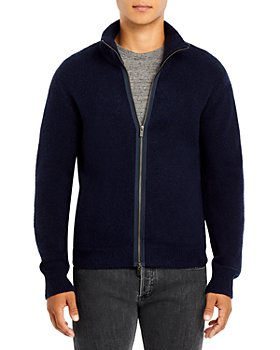 ATM Anthony Thomas Melillo - Regular Fit Full Zip Mock Collar Sweater