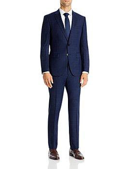 BOSS - Huge Wool Tonal Plaid Slim Fit Suit