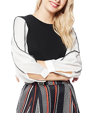 Black Stitch Sleeve Detail Top (43% off) Comparable value $97