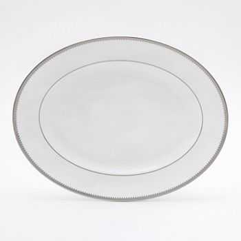 "Vera Wang - for Wedgwood ""Grosgrain"" Oval Platter, 14"""