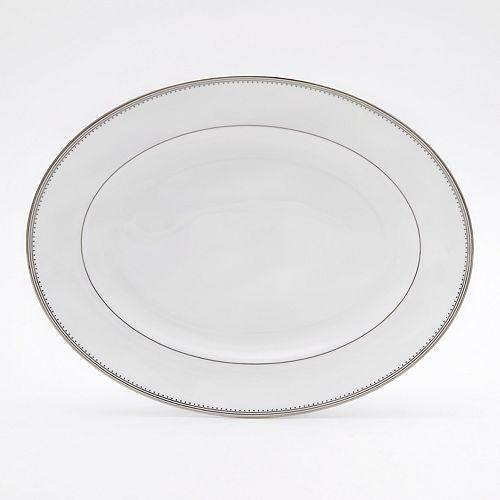 """Vera Wang - for Wedgwood """"Grosgrain"""" Oval Platter, 15"""""""