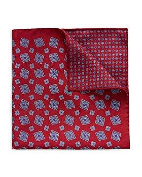 Eton - Silk Double Sided Medallion Pocket Square