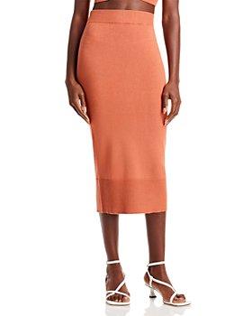 AQUA - Knit Midi Pencil Skirt - 100% Exclusive