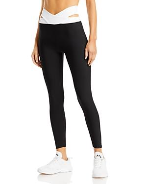 Aqua Athletic Criss Cross Waist Leggings - 100% Exclusive In Black