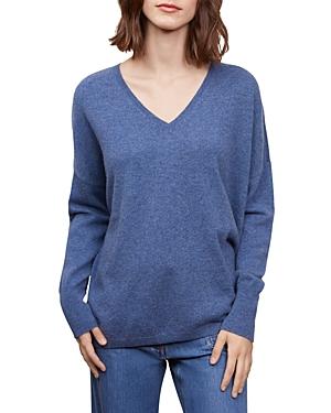 Gerard Darel Lina V Neck Cashmere Sweater