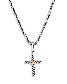 David Yurman - 18K Yellow Gold & Sterling Silver Amulets Textured Cross Pendant