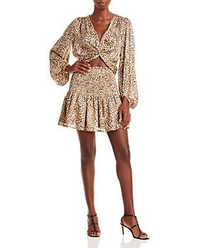AQUA - Twisted Crop Top & Smocked Mini Skirt - 100% Exclusive