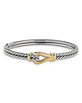 David Yurman - Thoroughbred Loop Bracelet with 18K Yellow Gold