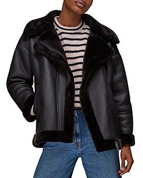 Whistles - Lauren Faux Fur Leather Jacket