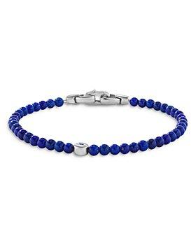 David Yurman - Sterling Silver Spiritual Beads Lapis Bead & Blue Sapphire Evil Eye Bracelet