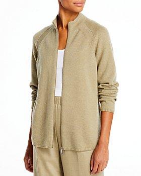 Lafayette 148 New York - Raglan Sleeve Zip Cashmere Sweater