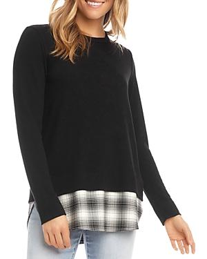 Plaid Layered Look Sweater