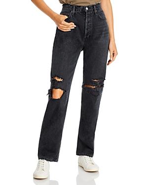 Agolde '90s Pinch Waist Wide Leg Jeans in Howl