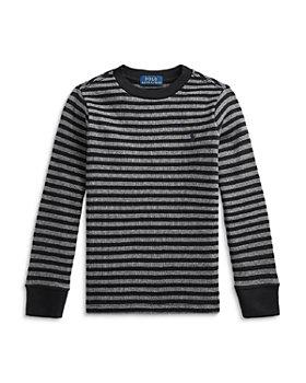 Ralph Lauren - Striped Waffle Knit Cotton Tee - Little Kid, Big Kid