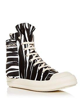 DRKSHDW Rick Owens - Men's Cargo Zebra Stripe High Top Sneakers