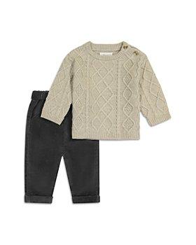 Miniclasix - Boys' Cable Knit Sweater & Corduroy Pants Set - Baby