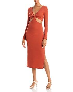 FORE - Ribbed Knit Cutout Dress