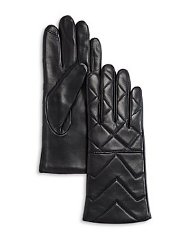 AQUA - Quilted Leather Tech Gloves - 100% Exclusive