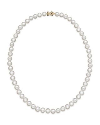 """Cultured Freshwater 9mm Pearl Strand Necklace, 18"""""""