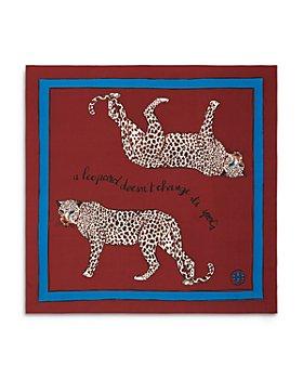 Tory Burch - Mirror Leopard Pattern Silk Twill Neckerchief