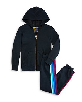 Aviator Nation - Unisex Lightning Bolt Hoodie & Striped Jogger Pants, Little Kid, Big Kid - 100% Exclusive