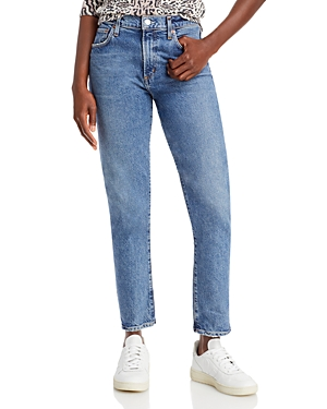 Agolde Toni Mid Rise Straight Leg Jeans in Dime