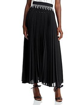 CHRISTOPHER KANE - Beaded Pleated Midi Skirt
