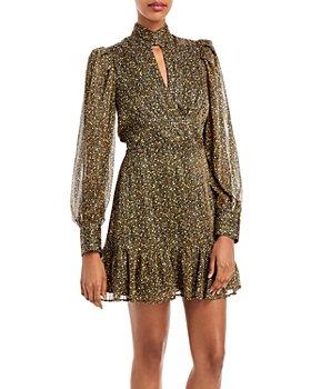 AQUA - Pebble Print Keyhole Dress - 100% Exclusive