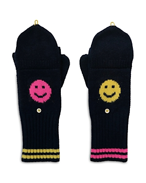 Mr. Smiley Cashmere Pop Top Mittens