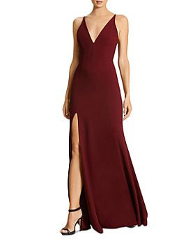 Dress the Population - Iris Plunging Crepe Gown