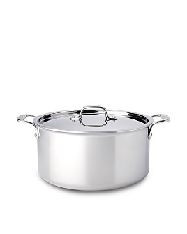 All-Clad - Stainless Steel 8-Quart Stock Pot with Lid