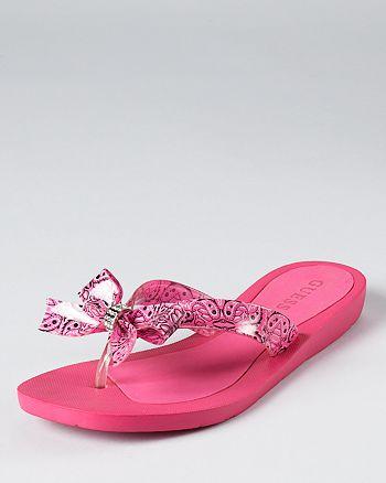 550620418 GUESS Sandals - Tutu Bow Flip-Flops