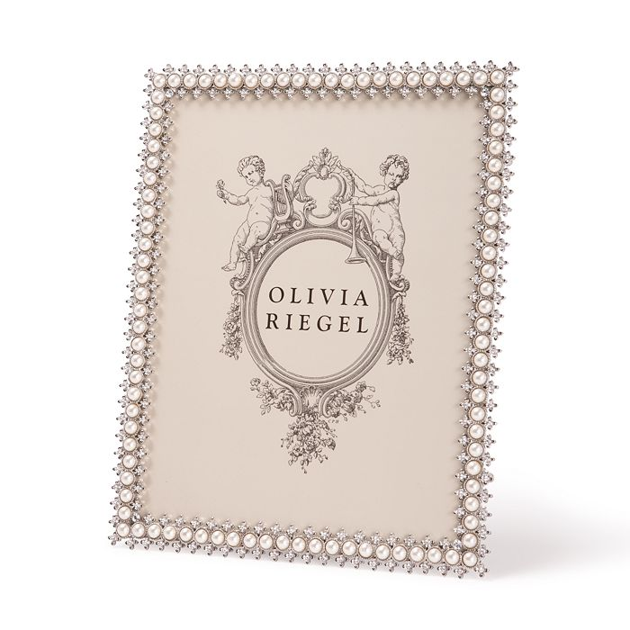 "Olivia Riegel - Crystal & Pearl Frame, 8"" x 10"""
