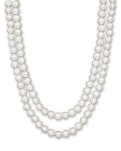 "Cultured White Freshwater Pearl Necklace, 52"" - Bloomingdale's_0"