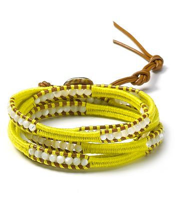 Chan Luu - Mother of Pearl And Henna Five Wrap Bracelet