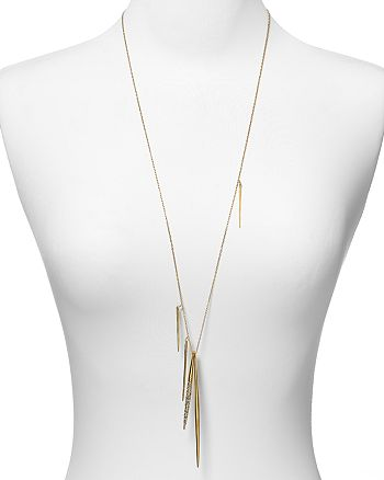 Alexis Bittar - Crystal Encrusted Long Spear Necklace, 32""