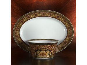 Rosenthal Meets Versace Medusa Vegetable Dish, Large