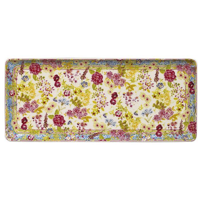 Gien France - Mille Fleur Oblong Serving Tray