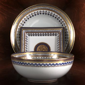 Mottahedeh - Chinois Blue Square Tray