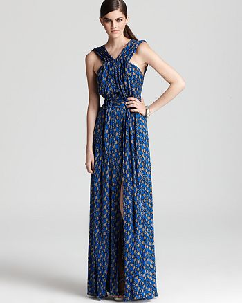 Issa London - Printed V Neck Maxi Dress